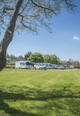 5 star touring caravan tent site, Presteigne, Wales