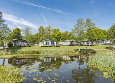 Beautiful lake edge holiday home pitches available