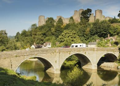 Ludlow Castle and River Teme